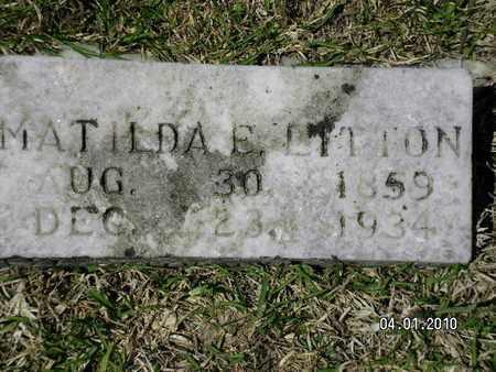 LITTON, MATILDA E - Sabine County, Louisiana | MATILDA E LITTON - Louisiana Gravestone Photos