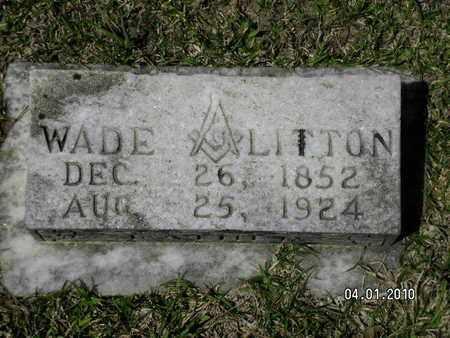 LITTON, WADE - Sabine County, Louisiana | WADE LITTON - Louisiana Gravestone Photos