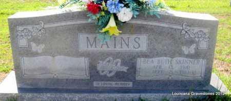 SKINNER MAINS, BEA BETH - Sabine County, Louisiana | BEA BETH SKINNER MAINS - Louisiana Gravestone Photos