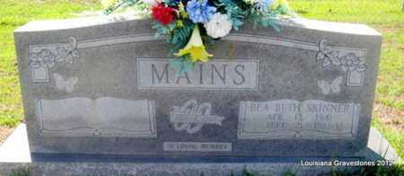 MAINS, BEA BETH - Sabine County, Louisiana | BEA BETH MAINS - Louisiana Gravestone Photos