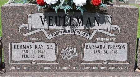 VEULEMAN, HERMAN RAY, SR - Sabine County, Louisiana   HERMAN RAY, SR VEULEMAN - Louisiana Gravestone Photos