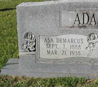 ADAMS, ASA DEMARCUS (CLOSEUP) - St. Helena County, Louisiana | ASA DEMARCUS (CLOSEUP) ADAMS - Louisiana Gravestone Photos