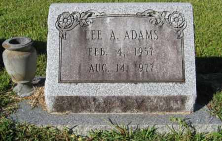 ADAMS, LEE A - St. Helena County, Louisiana | LEE A ADAMS - Louisiana Gravestone Photos