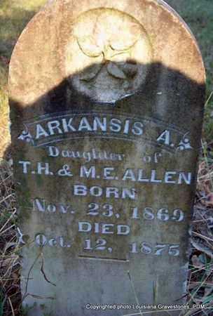 ALLEN, ARKANSIS A - St. Helena County, Louisiana | ARKANSIS A ALLEN - Louisiana Gravestone Photos