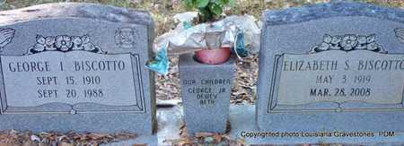 BISCOTTO, ELIZABETH - St. Helena County, Louisiana | ELIZABETH BISCOTTO - Louisiana Gravestone Photos