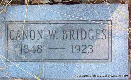 BRIDGES, CANON W - St. Helena County, Louisiana | CANON W BRIDGES - Louisiana Gravestone Photos