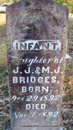 BRIDGES, INFANT DAUGHTER - St. Helena County, Louisiana | INFANT DAUGHTER BRIDGES - Louisiana Gravestone Photos
