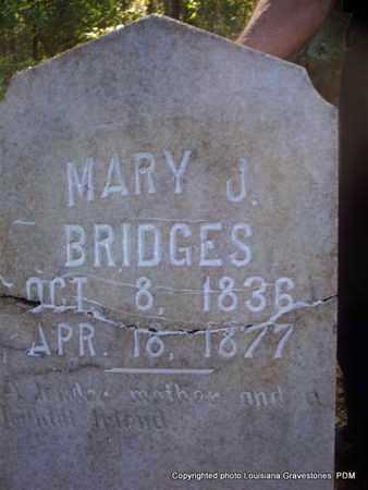 BRIDGES, MARY J - St. Helena County, Louisiana   MARY J BRIDGES - Louisiana Gravestone Photos