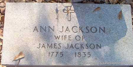 JACKSON, ANN - St. Helena County, Louisiana | ANN JACKSON - Louisiana Gravestone Photos