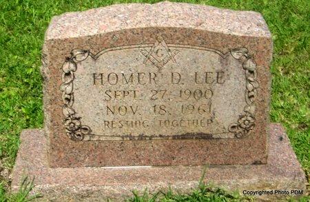 LEE, HOMER D - St. Helena County, Louisiana | HOMER D LEE - Louisiana Gravestone Photos