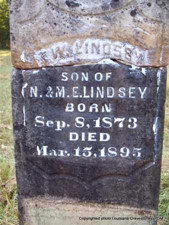 LINDSEY, F W - St. Helena County, Louisiana   F W LINDSEY - Louisiana Gravestone Photos