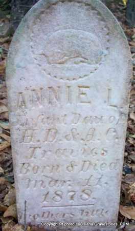 TRAVIES, ANNIE L - St. Helena County, Louisiana | ANNIE L TRAVIES - Louisiana Gravestone Photos