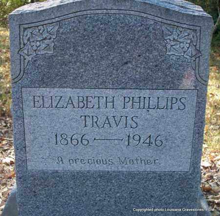 PHILLIPS TRAVIS, ELIZBETH - St. Helena County, Louisiana | ELIZBETH PHILLIPS TRAVIS - Louisiana Gravestone Photos