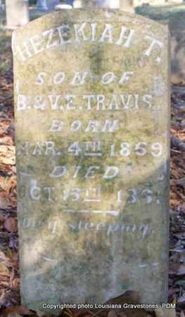 TRAVIS, HEZEKIAH T - St. Helena County, Louisiana | HEZEKIAH T TRAVIS - Louisiana Gravestone Photos