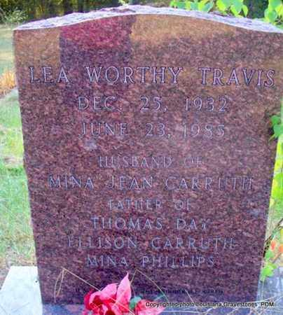 TRAVIS, LEA WORTHY - St. Helena County, Louisiana | LEA WORTHY TRAVIS - Louisiana Gravestone Photos