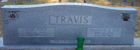 FORCE TRAVIS, SUSIE - St. Helena County, Louisiana   SUSIE FORCE TRAVIS - Louisiana Gravestone Photos