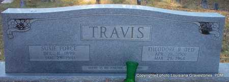FORCE TRAVIS, SUSIE - St. Helena County, Louisiana | SUSIE FORCE TRAVIS - Louisiana Gravestone Photos