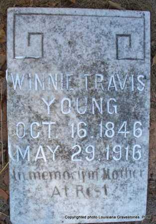 TRAVIS YOUNG, WINNIE - St. Helena County, Louisiana | WINNIE TRAVIS YOUNG - Louisiana Gravestone Photos
