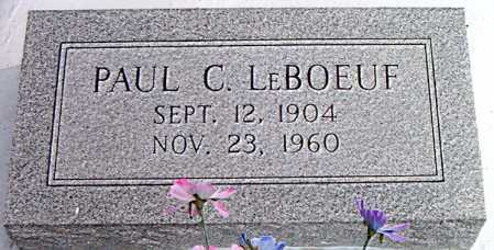 LEBOEUF, PAUL C. - Terrebonne County, Louisiana   PAUL C. LEBOEUF - Louisiana Gravestone Photos