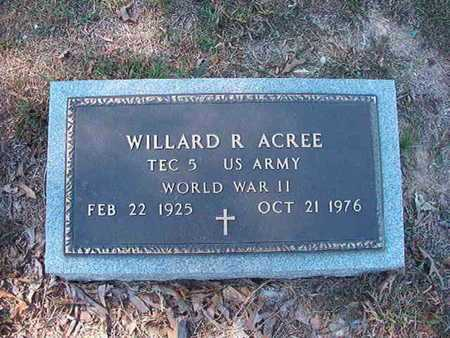ACREE, WILLARD R (VETERAN WWII) - Union County, Louisiana | WILLARD R (VETERAN WWII) ACREE - Louisiana Gravestone Photos