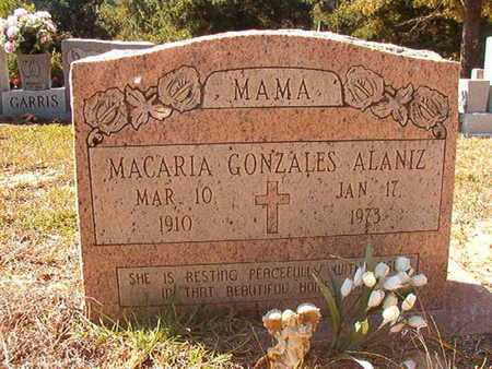 GONZALES ALANIZ, MACARIA - Union County, Louisiana | MACARIA GONZALES ALANIZ - Louisiana Gravestone Photos