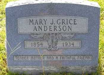ANDERSON, MARY J - Union County, Louisiana | MARY J ANDERSON - Louisiana Gravestone Photos