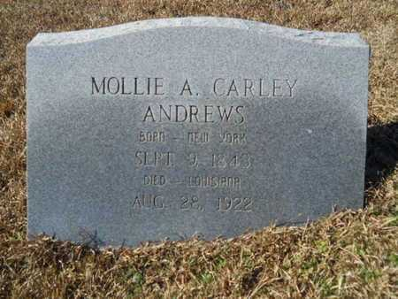 CARLEY ANDREWS, MOLLIE A - Union County, Louisiana | MOLLIE A CARLEY ANDREWS - Louisiana Gravestone Photos