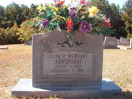 MCMURRY ARNSDORFF, JULIA F - Union County, Louisiana | JULIA F MCMURRY ARNSDORFF - Louisiana Gravestone Photos