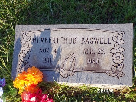 "BAGWELL, HERBERT ""HUB"" - Union County, Louisiana   HERBERT ""HUB"" BAGWELL - Louisiana Gravestone Photos"