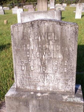 BAGWELL, MARGUARETTE ANN - Union County, Louisiana | MARGUARETTE ANN BAGWELL - Louisiana Gravestone Photos