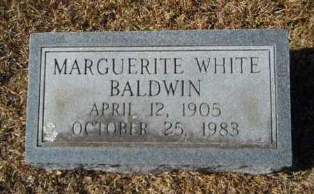 WHITE BALDWIN, MARGUERITE - Union County, Louisiana   MARGUERITE WHITE BALDWIN - Louisiana Gravestone Photos