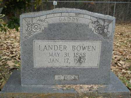 BOWEN, LANDER - Union County, Louisiana   LANDER BOWEN - Louisiana Gravestone Photos