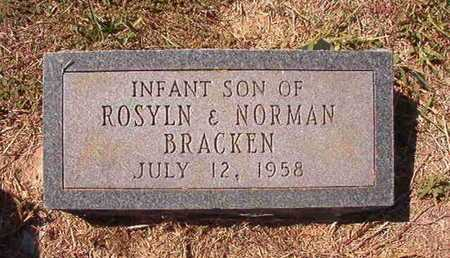 BRACKEN, INFANT SON - Union County, Louisiana | INFANT SON BRACKEN - Louisiana Gravestone Photos