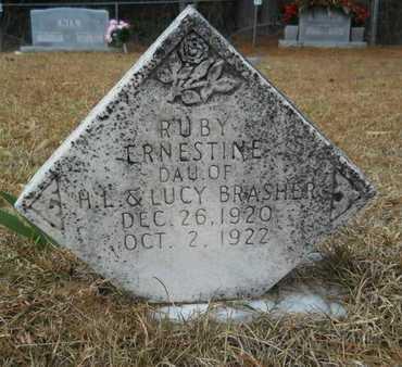 BRASHER, RUBY ERNESTINE - Union County, Louisiana | RUBY ERNESTINE BRASHER - Louisiana Gravestone Photos