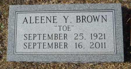 BROWN, ALEENE Y - Union County, Louisiana | ALEENE Y BROWN - Louisiana Gravestone Photos