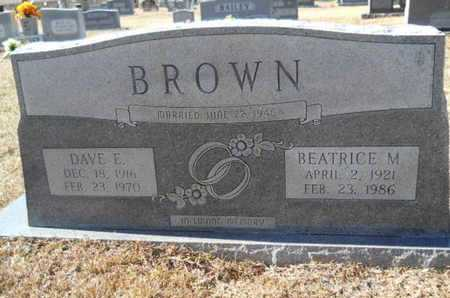 BROWN, DAVE E - Union County, Louisiana | DAVE E BROWN - Louisiana Gravestone Photos