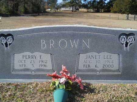 BROWN, PERRY F - Union County, Louisiana | PERRY F BROWN - Louisiana Gravestone Photos