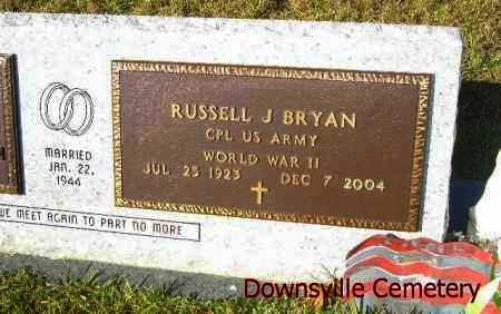 BRYAN, RUSSELL J  (VETERAN WWII) - Union County, Louisiana | RUSSELL J  (VETERAN WWII) BRYAN - Louisiana Gravestone Photos
