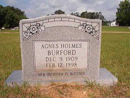 HOLMES BURFORD, AGNES - Union County, Louisiana | AGNES HOLMES BURFORD - Louisiana Gravestone Photos