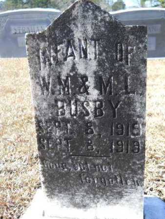 BUSBY, INFANT - Union County, Louisiana | INFANT BUSBY - Louisiana Gravestone Photos