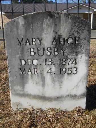 BUSBY, MARY ALICE - Union County, Louisiana | MARY ALICE BUSBY - Louisiana Gravestone Photos