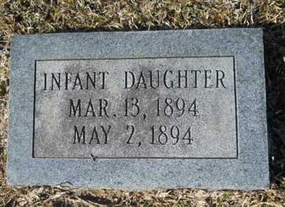BUTLER, INFANT DAUGHTER - Union County, Louisiana   INFANT DAUGHTER BUTLER - Louisiana Gravestone Photos