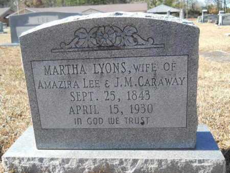 LYONS CARAWAY, MARTHA - Union County, Louisiana   MARTHA LYONS CARAWAY - Louisiana Gravestone Photos