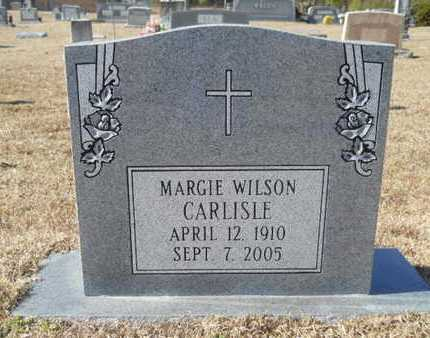 WILSON CARLISLE, MARGIE - Union County, Louisiana | MARGIE WILSON CARLISLE - Louisiana Gravestone Photos