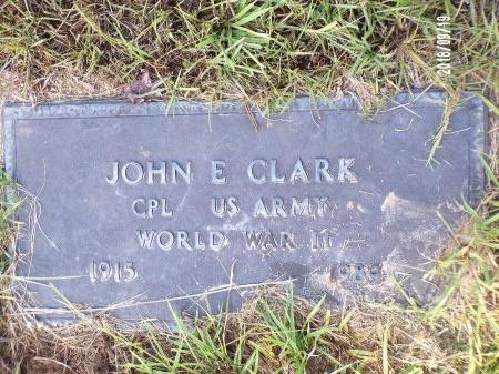 CLARK, JOHN E (VETERAN WWII) - Union County, Louisiana | JOHN E (VETERAN WWII) CLARK - Louisiana Gravestone Photos