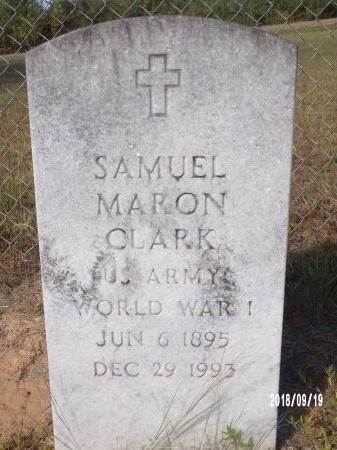 CLARK, SAMUEL MARON (VETERAN WWI) - Union County, Louisiana | SAMUEL MARON (VETERAN WWI) CLARK - Louisiana Gravestone Photos