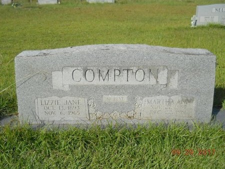 COMPTON, MARTHA ANN - Union County, Louisiana | MARTHA ANN COMPTON - Louisiana Gravestone Photos