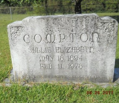 COMPTON, SALLIE ELIZABETH - Union County, Louisiana | SALLIE ELIZABETH COMPTON - Louisiana Gravestone Photos