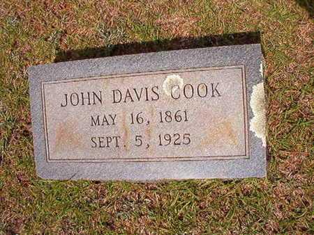 COOK, JOHN DAVIS - Union County, Louisiana   JOHN DAVIS COOK - Louisiana Gravestone Photos