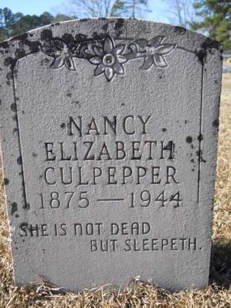 CULPEPPER, NANCY ELIZABETH - Union County, Louisiana | NANCY ELIZABETH CULPEPPER - Louisiana Gravestone Photos